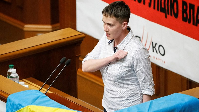 Savchenko berates 'lazy' Ukrainian lawmakers