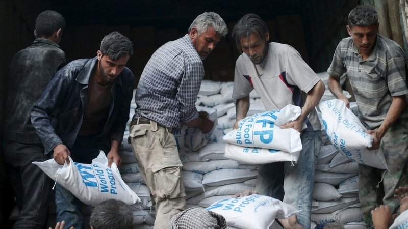 Western powers call for Syria aid air drops