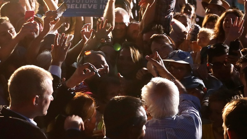 With Clinton poised to win, questions loom for Sanders