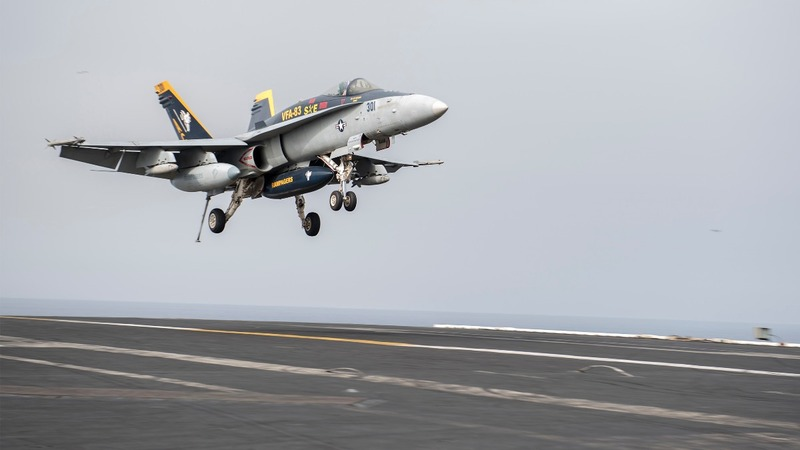 U.S. jets hit ISIS from carrier in Mediterranean