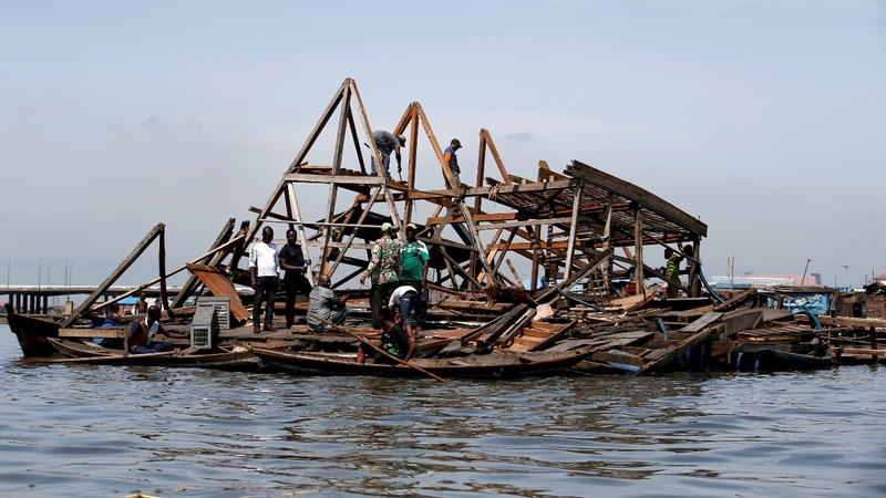 Floating Nigerian school collapses in storm