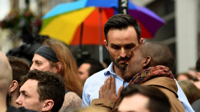 A vigil for Orlando in London