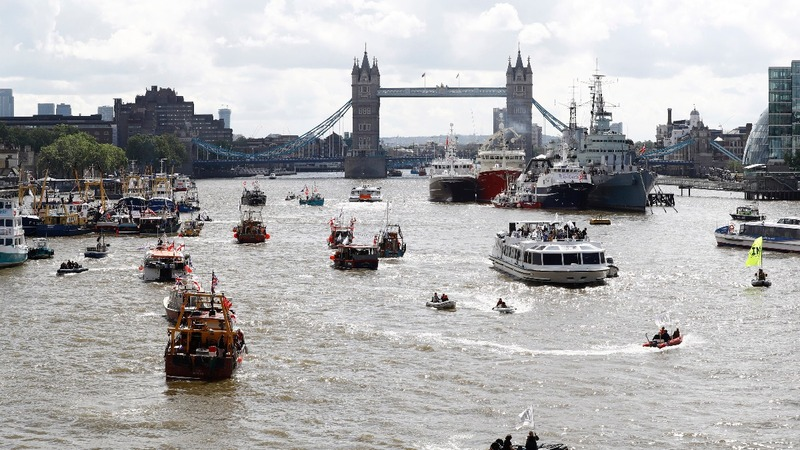 Farage and Geldof in EU flotilla face-off