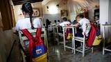 Kids & teachers ditch school in Venezuela
