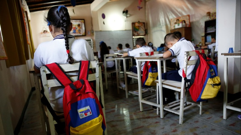 Kids & teachers ditch school in Venezuela