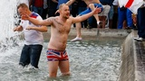 England soccer fans party in Lille