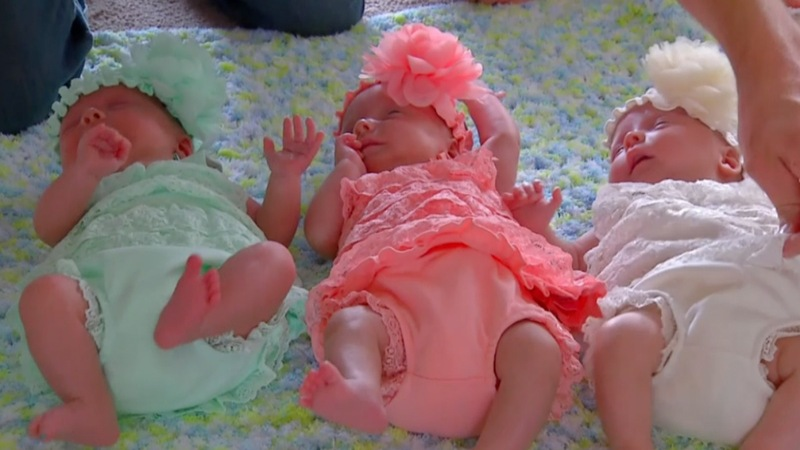One in a million: rare identical triplets born