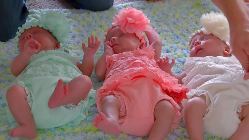 One in a million: rare identical triplets born