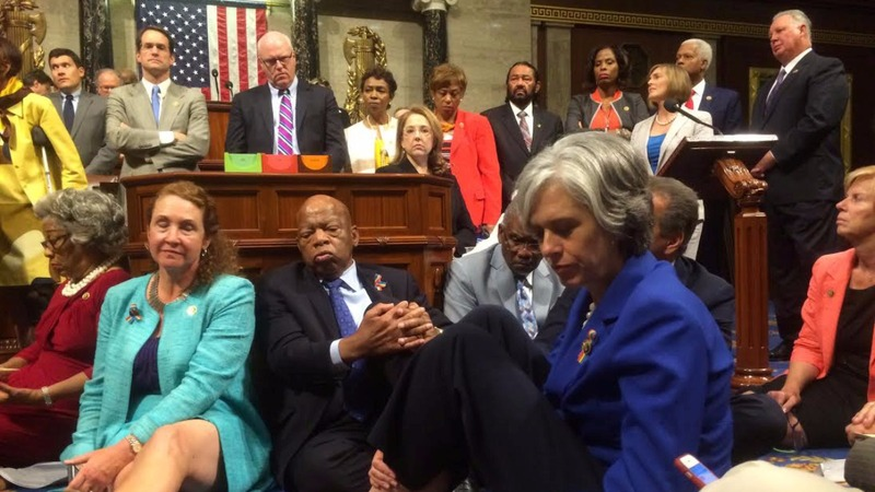 Dems' sit-in presses on despite House adjournment