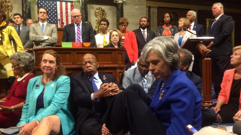 Dems' sit-in presses on despite House adjournment