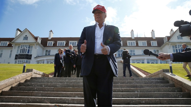 Donald Trump visits Scottish golf resorts