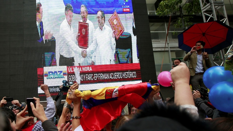 Colombians celebrate historic ceasefire with rebels
