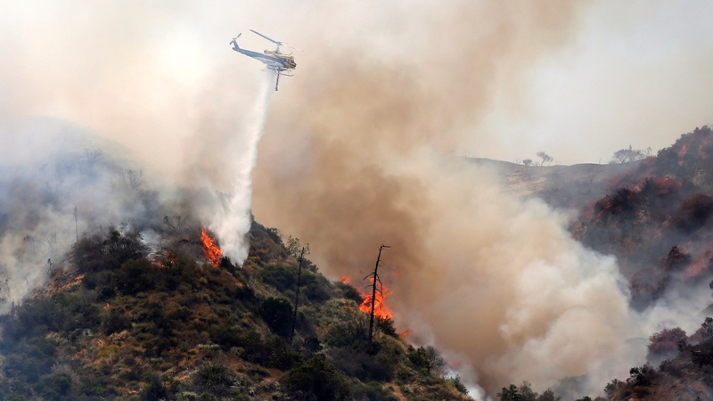 Wildfire destroys dozens of homes in central California