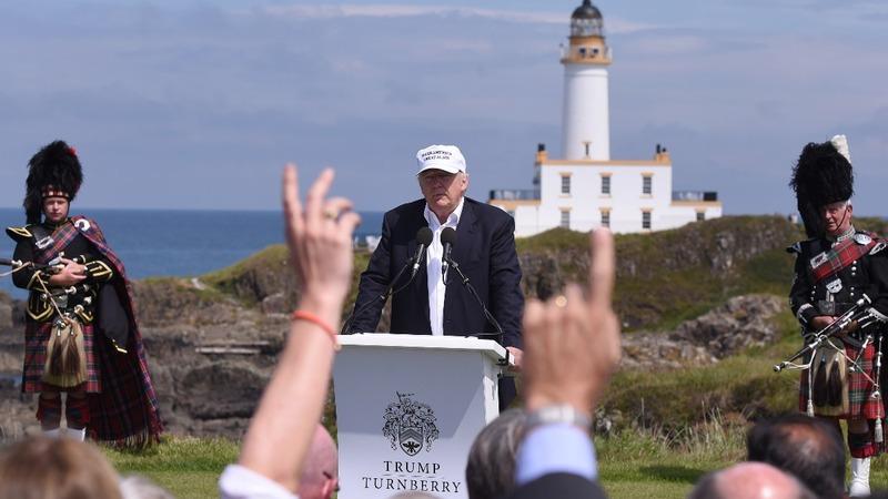 Trump touts Brexit triumph in Turnberry
