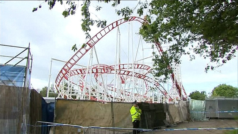 Roller coaster crash injures 10 in Scotland