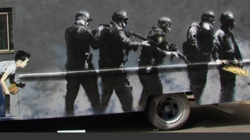 INSIGHT: Banksy's SWAT van to auction