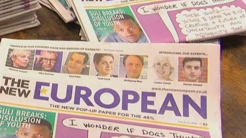 'Pop up' paper for UK's pro-EU 48%