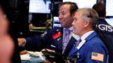 Stocks near record high on sharp hiring rebound