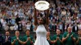 Serena beats Kerber in Wimbledon final
