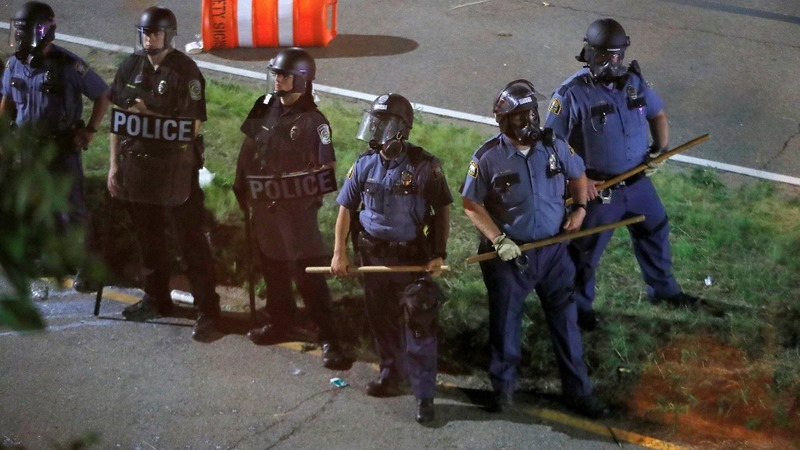 Police, protestors clash after latest shootings