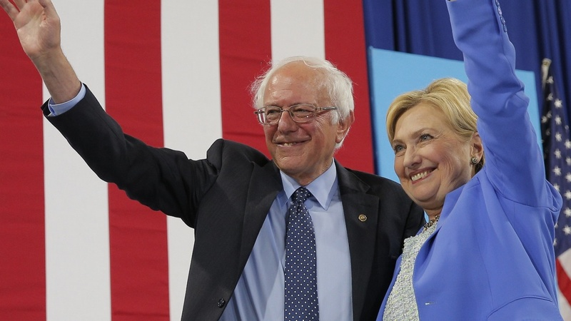 Sanders forcefully endorses former rival Clinton