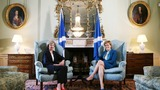 May bids to soothe Scotland in first trip