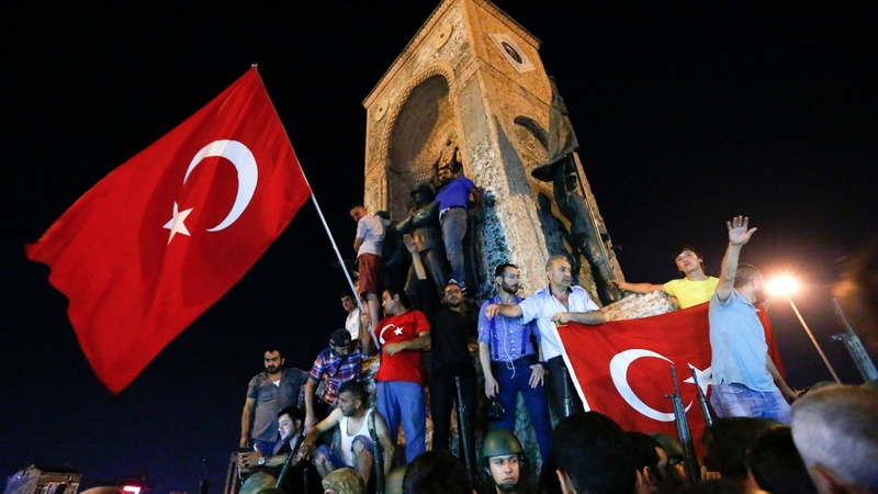 Attempted coup underway in Turkey