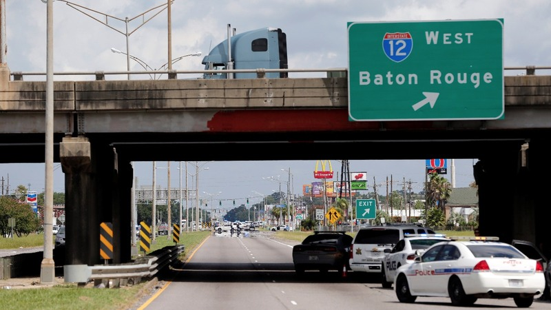 Three police officers killed in Baton Rouge; suspect dead
