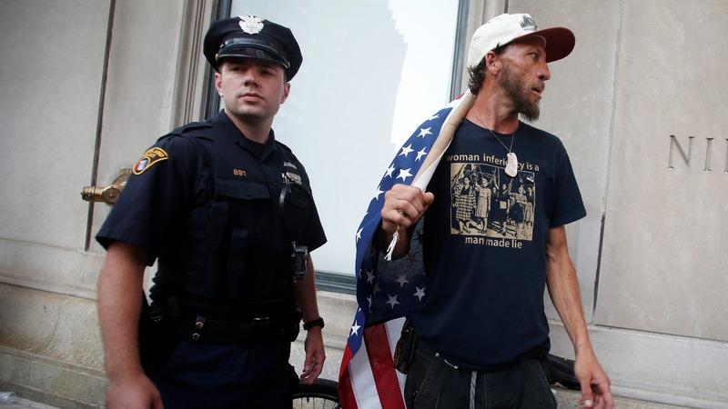 Anti-Trump protests fail to ignite in Cleveland