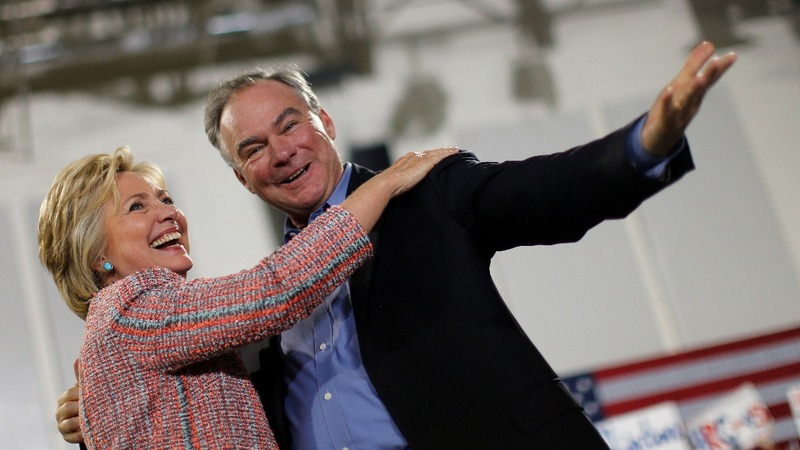 Clinton chooses Kaine as running mate