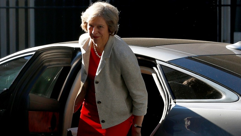 May takes Brexit to Northern Ireland