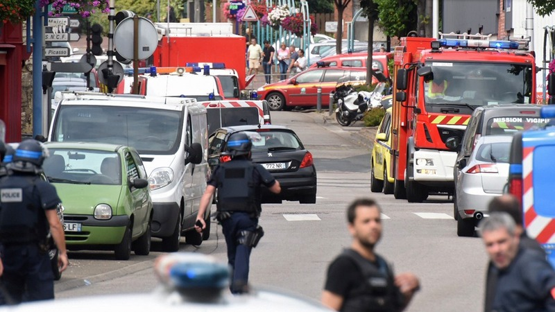 Priest dead in French church attack