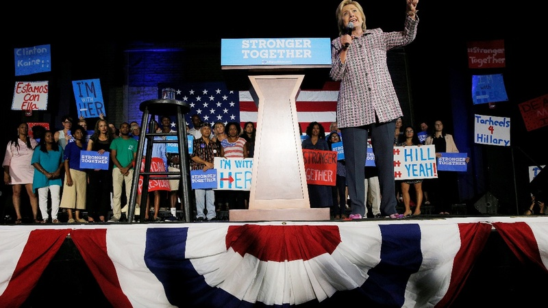 Hillary makes history