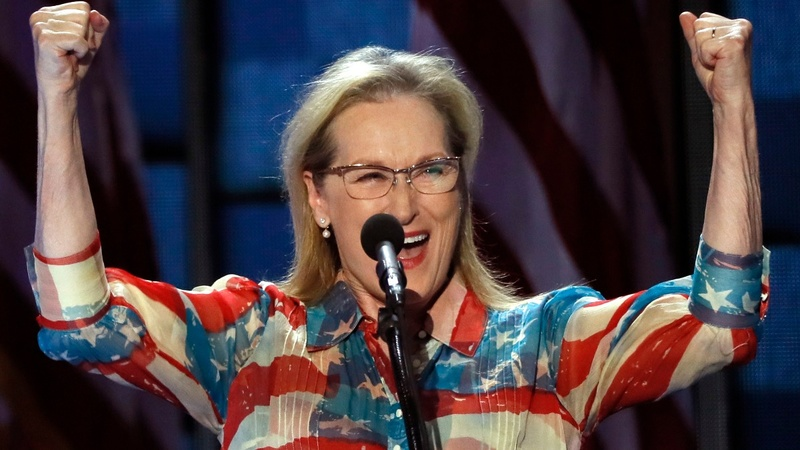 'Iron Lady' Streep cheers trailblazer Clinton