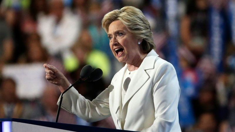 Clinton ends DNC with full-on Trump attack