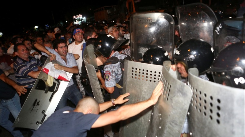 Clashes in Armenia as opposition rally turns ugly