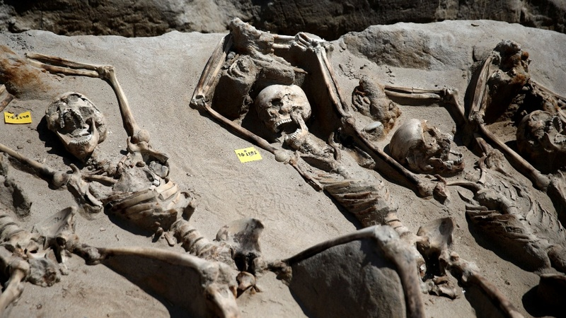 Ancient Greeks shackled but buried with respect