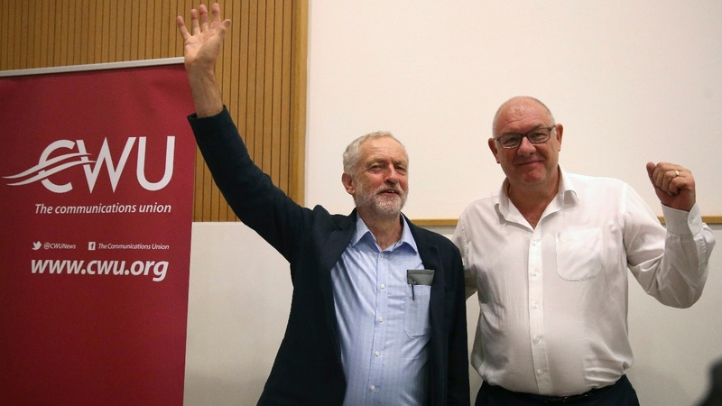 Corbyn backed by CWU union for leadership
