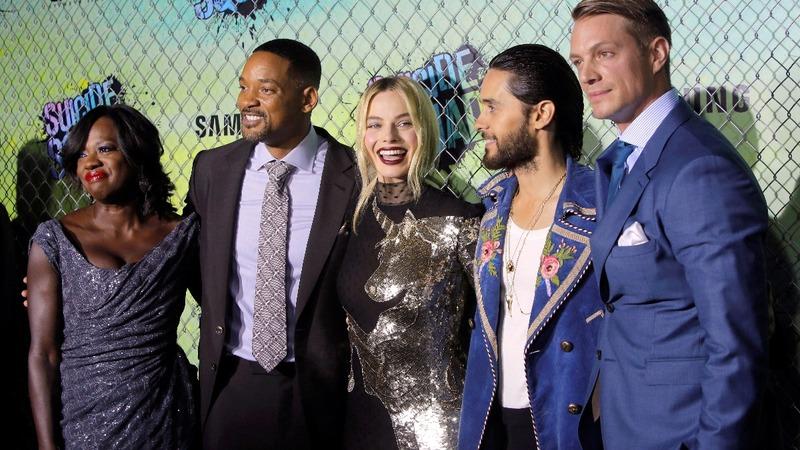 Director drops F-bomb at 'Suicide Squad' premiere