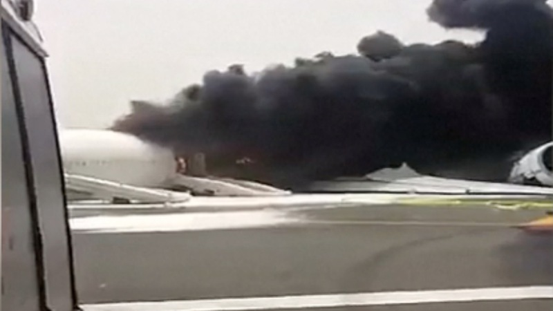 Emirates jet erupts into fireball at Dubai airport