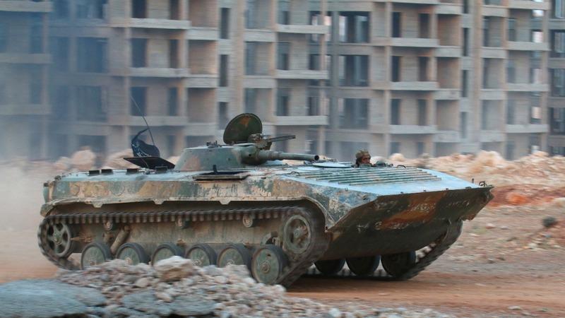 Jets pound rebel positions around Aleppo