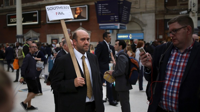 Train strike chaos for London commuters