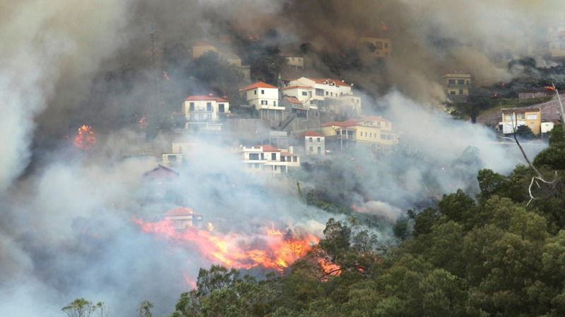 Wildfires kill three on Portugal's Madeira