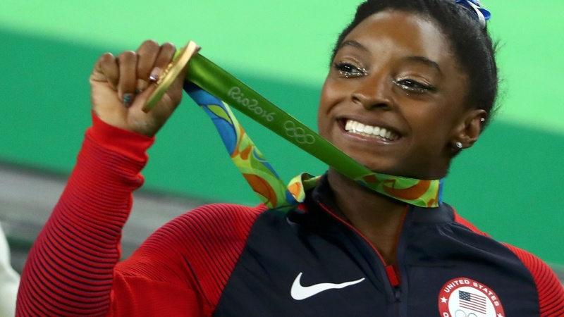 Biles vaults to all-around Olympic gold