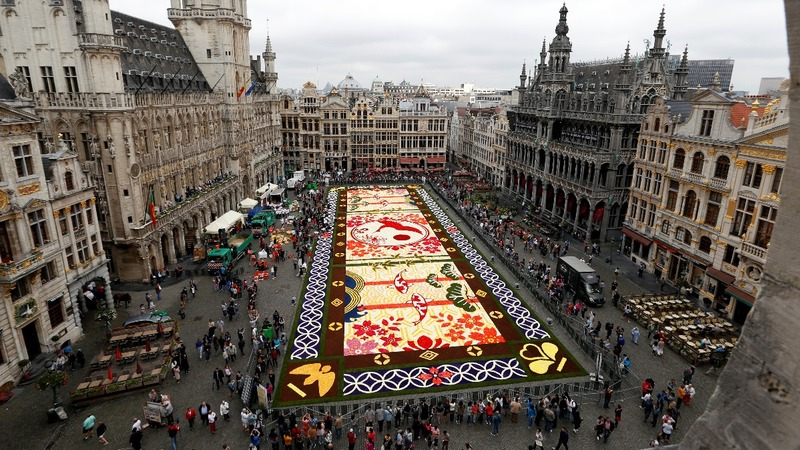 INSIGHT: Flowers carpet Brussels' Grand Place
