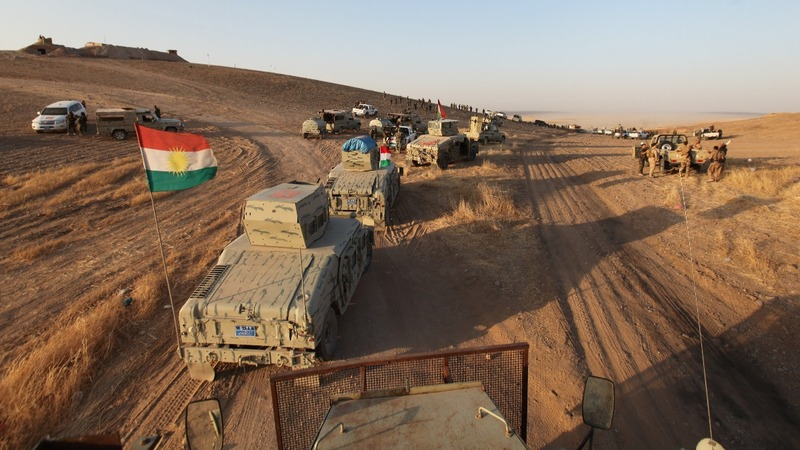 Kurdish forces begin assault on Mosul