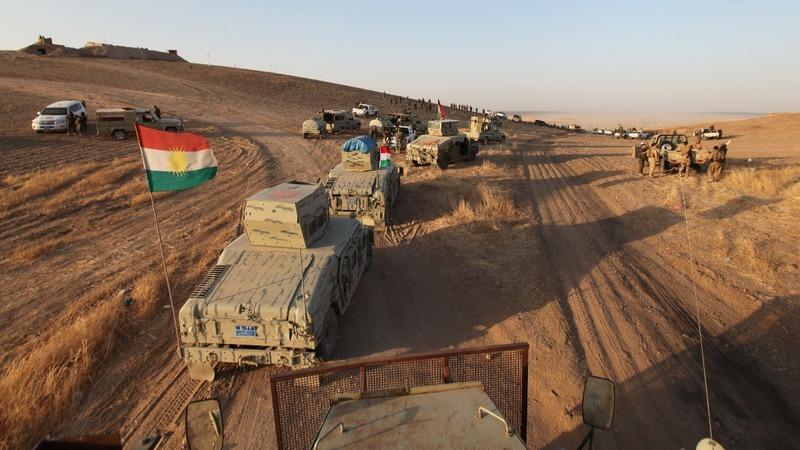 Kurdish forces begin assault on Mosul