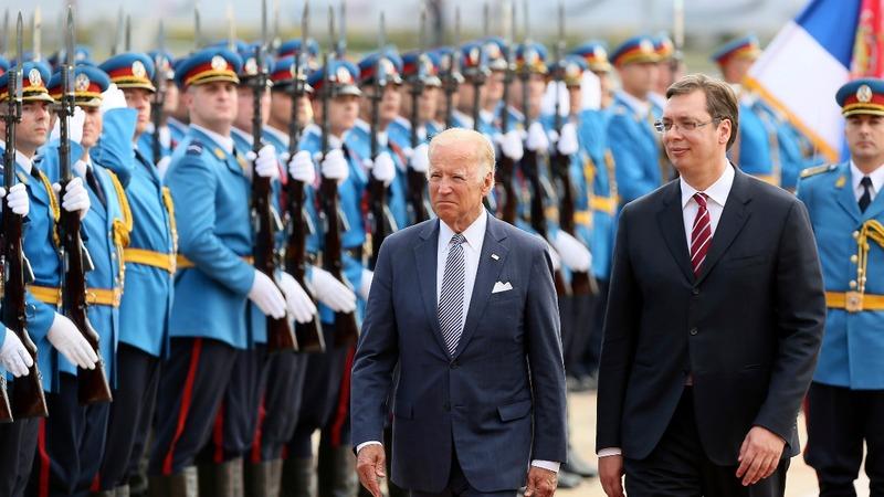 Biden gives condolences to Serbs over strikes