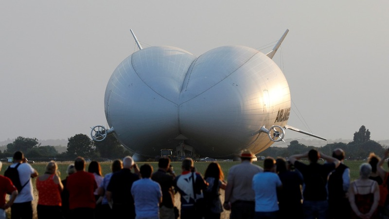 World's longest aircraft gets off the ground