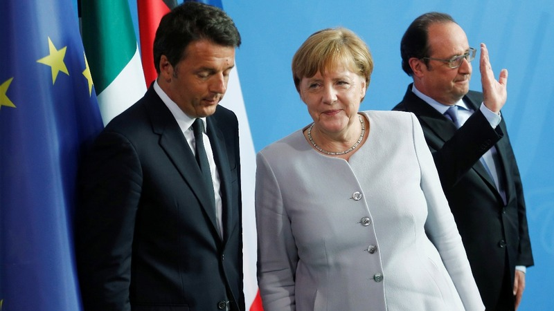 Merkel, Hollande, Renzi debate EU gameplan